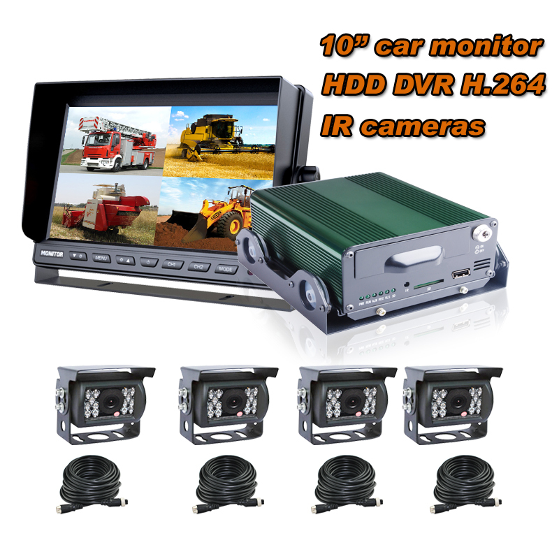 4 Channel 3G mobile dvr Car dvr system for bus truck, support 2TB HDD and 64GB SD Card to Storage---H890A(China (Mainland))