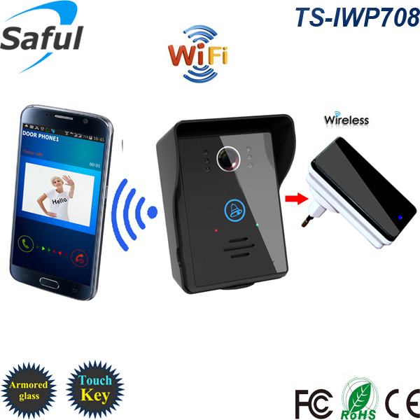 2015 newest Saful brand touch key motion detection alarm Android APP support wifi doorbell camera<br><br>Aliexpress