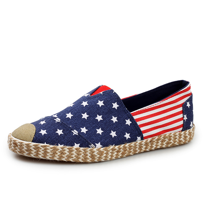 New Brand Shoes 2016 New Spring Casual Shoes Men Flats Striped Canvas Shoes Zapatos Hombre Slip On Flat Shoes F474(China (Mainland))
