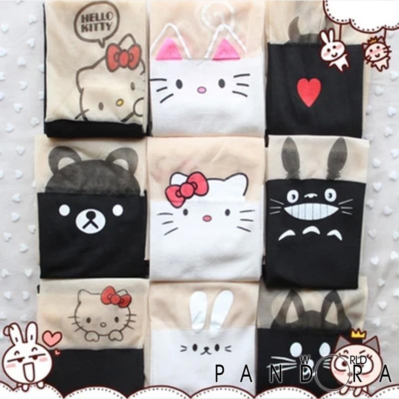 Free Shipping Brand New Design Cartoon Tights Print Hello Kitty Cat Totoro Pantyhose Spring Summer Kawaii Meia Calca PWS-027(China (Mainland))