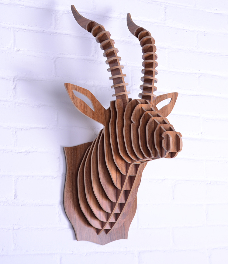Goat head,wooden wall art,craft diy wood,novelty item,wood animal head wall,carved wood wall decor,home decor wholesale,mdf gift(China (Mainland))