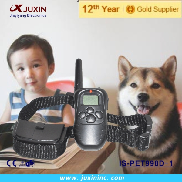 300M LCD DISPLAY REMOTE CONTROL STATIC SHOCK ANTI BARK DOG PET TRAINING COLLAR(China (Mainland))
