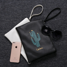 4 pcs/lot Cactus Filing Products Mesh Bag File Document Bag PU File Folder Stationery Filing Production School Escolar Papelaria(China (Mainland))