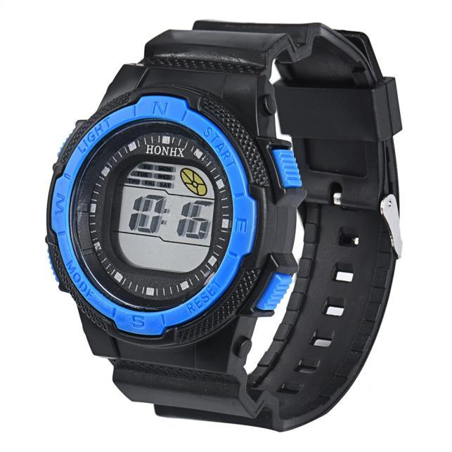 2016 New Fashion Men Waterproof Watch LED Digital Stopwatch Alarm Date Rubber Sport Quartz Wristwatch Watces relogio masculino