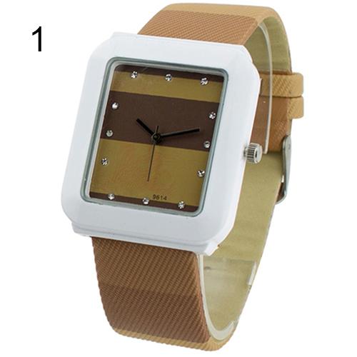 Unique Women Ladies Girls Quartz Crystal Wrist Watch Square Dial Dress Leather Watches<br><br>Aliexpress