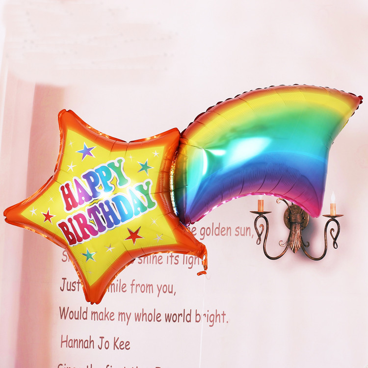 1pcs Large size Rainbow Happy Birthday Foil Balloons Birthday Party Decoration Kids Party Balloons Suppliers Air Balls(China (Mainland))