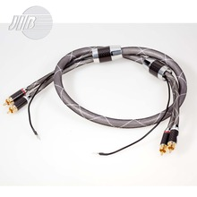 Free Shipping JIB Germany Hi-Fi HiFi Hi-End Copper OCC RCA + GND Audio Signal Cord Cable HF-002G(China (Mainland))