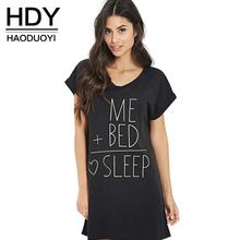 HDY Haoduoyi 2017 Summer Fashion Women Boyfriend Long T-shirt Loose Letter Print O-neck Rolling Short Sleeve T-shirt(China (Mainland))