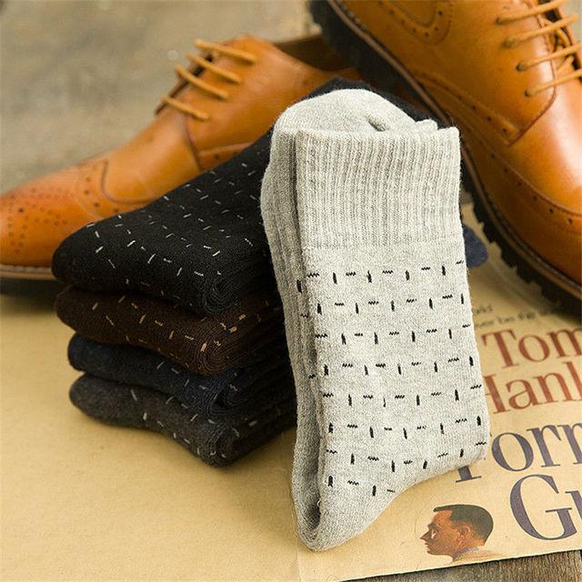 2015 года новые люди толщиной платье носки мужские сплошной бизнес носок мода простой стиль черный серый махровые носки
