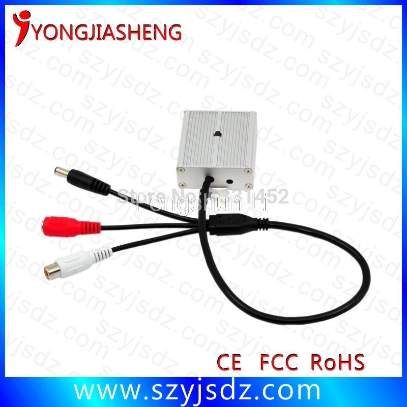 Low Output Cable : Hot selling low noise cctv audio microphone with power