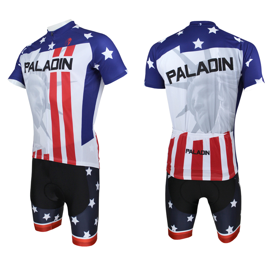 Mens Cycling Jersey Comfortable bike shirt  Statue of Liberty cycling wear Blue cycling clothing American Flag bicycle  top<br><br>Aliexpress