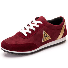 Brand New Men Casual Shoes 2015 For Men Shoes Casual Man Shoes Breathable Massage Flats With Lace-Up Spring Autumn Red Shoes