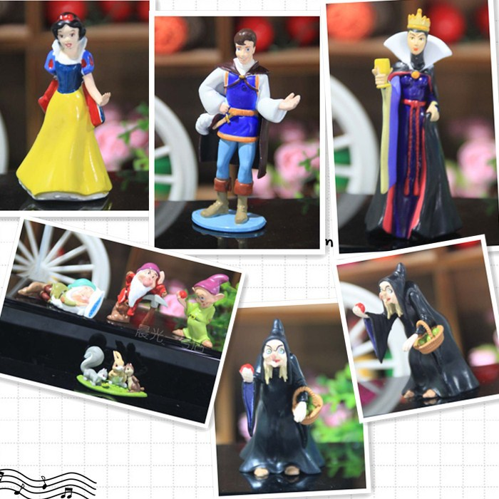Free shipping PVC Princess Snow white and Seven Dwarfs Queen Prince Action Figure Play set (8 pcs/set )(China (Mainland))