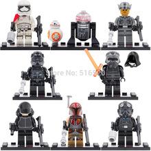 Wholesale Star Wars 7 Minifigures The Force Awakens 80pcs/lot Building Block Set Models Figure Toys For Children