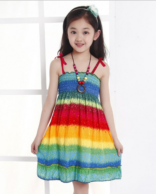 6 style New Girls Baby Bohemian Suspenders dress summer wholesale <br><br>Aliexpress