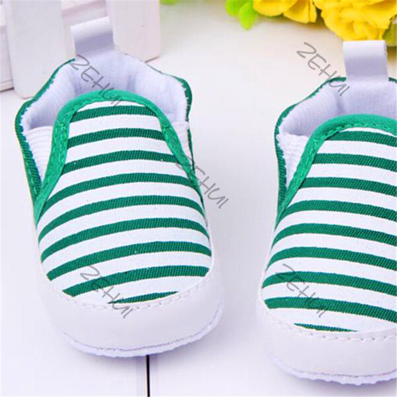 Hot Sale 3 12M Kids Baby Boys font b Girls b font Stripes Anti Slip Sneakers