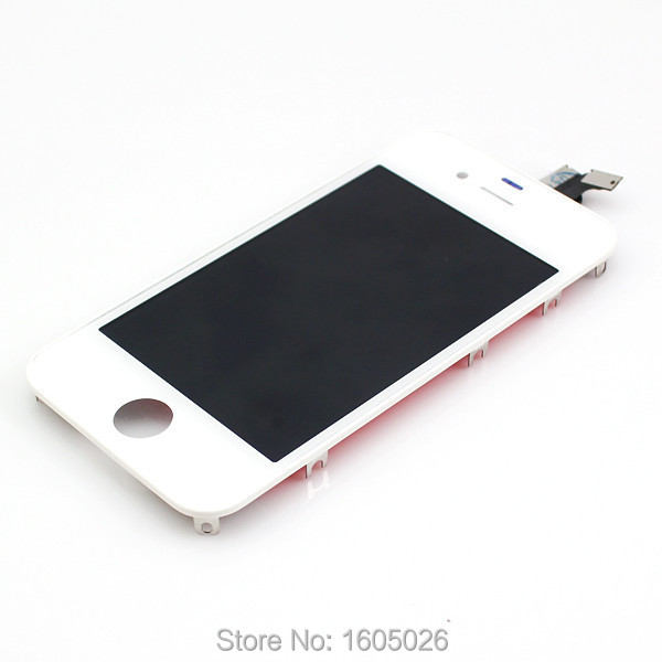 for Apple iPhone 4S LCD Screen and Digitizer Assembly (Assembled Flex) White A Grade(China (Mainland))