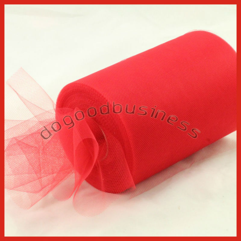"Hot selling Red TULLE Roll Spool 6""x100yard Tutu Wedding Gift Party Decorations Bow,Nylon Material Tutu Faric High quality(China (Mainland))"