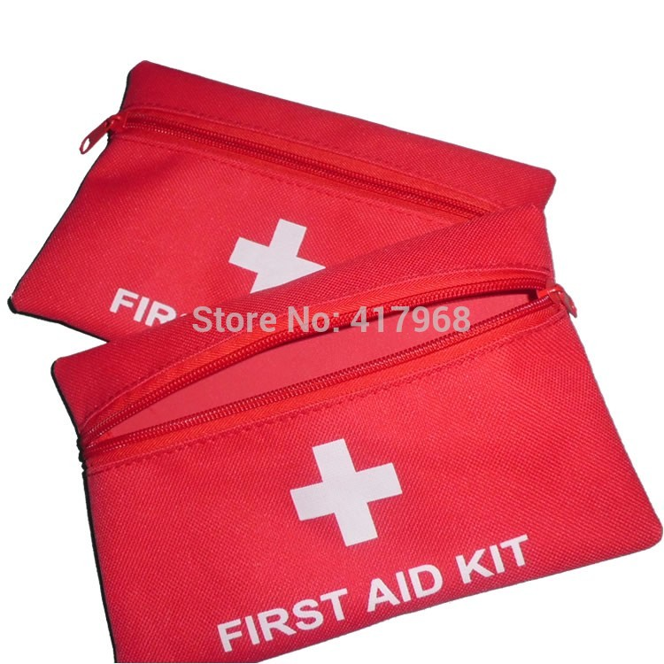 10pcs Red Wilderness survival first aid kit Rescue package Earthquake disaster prevention package Medical kits Carrying Case(China (Mainland))
