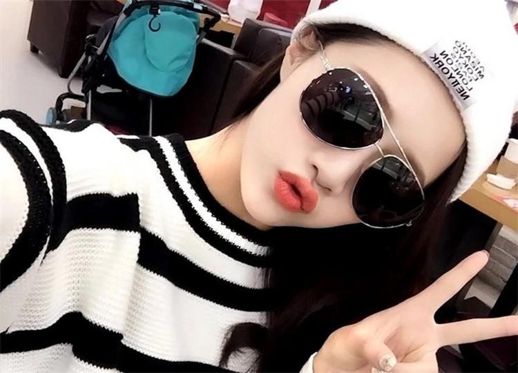 Brand New 2016 Cool Retro Vintage Womens Mirrored Lens Summer Sunglasses Holiday Sun Glasses oculos de sol feminino For men  T10