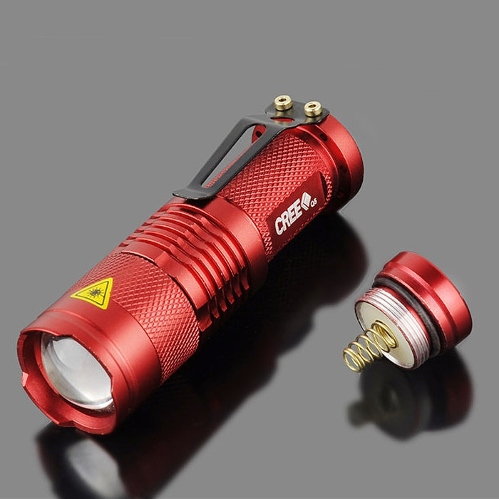 10PCS Red Portable Mini CREE Q5 LED 1200 Lumen Zoomable Flashlight Torch AA Brand New Arrival<br><br>Aliexpress