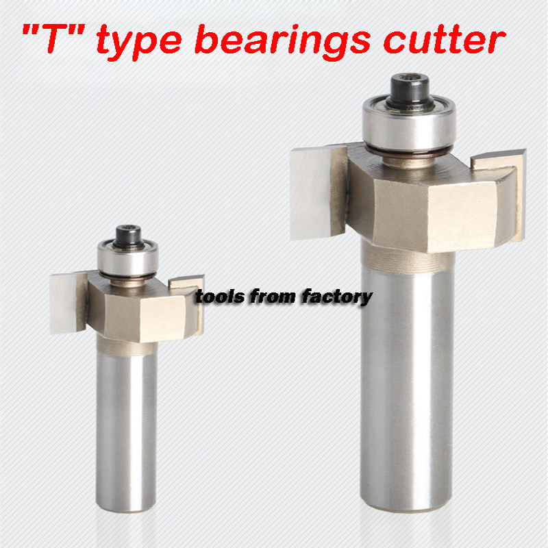 1pc 1/2*3/4 T type bearings wood milling cutter woodwork carving tools wooden router bits 1/2 SHK(China (Mainland))