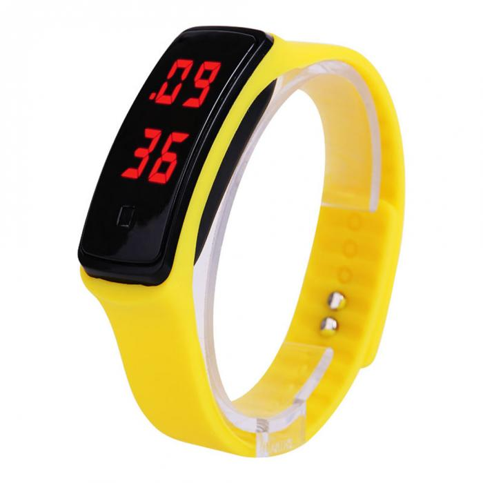 A Ausuky Hot Sport LED Women Watches Candy Color Silicone Rubber Touch Screen Digital Watches Waterproof Wrist Watch
