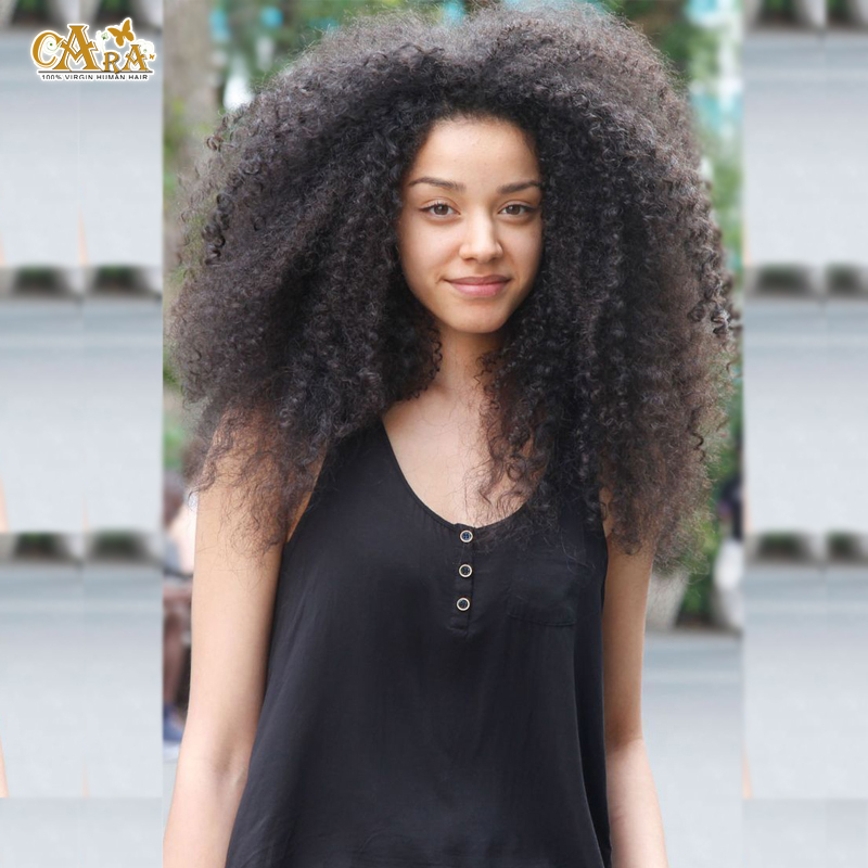 6A Malaysian Virgin Hair 130% Density Afro Kinky Curly Lace Front Wigs With Baby Hair Glueless Full Lace Wigs For Black Women