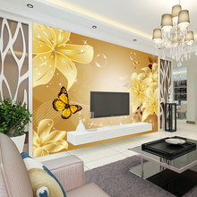 Buy beibehang 3d stereo lilies TV background wallpaper wallpaper living room bedroom sofa wall mural European non woven fabric mural for $16.20 in AliExpress store