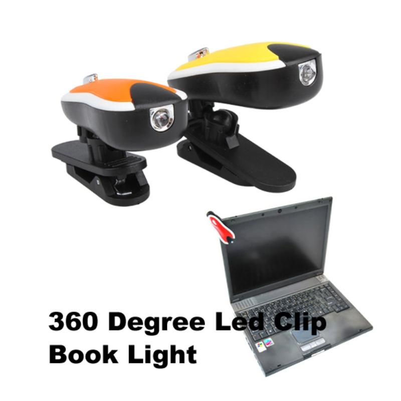#Cu3 Reading lamp 360 Degree Led Clip Book Light New(China (Mainland))