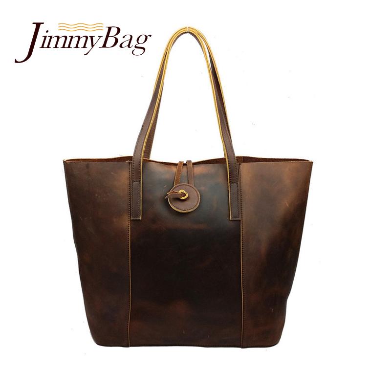 Brand JoYir new 100% crazy horse leather WOMENs handbag high-end shoulder bag vintage leather tote bags shopping bag wholesale <br><br>Aliexpress
