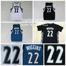 (3 Colors) Minnesota 22 Andrew Wiggins Basketball Jersey, Andrew Wiggins White Blue Black  REV 30 Basketball Jersey,SIze:S-XXL
