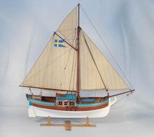 El 1770 sueco yate royal yate barco de vela clásico modelo de barco de madera de lujo estructura interna barco
