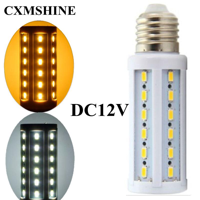 10pcs/lot Corn Lampada E27 E14 B22 Led Bulb 5730 LED Light DC12V 12W CE ROHS lamp 42Leds Lighting(China (Mainland))