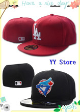 Wholesale cheap full closed baseball caps hip hop sport team high quality fitted hats gorras size 7-size 8 Free shipping!(China (Mainland))