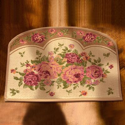 45*60cm flower carpet doormat cloth rose print bathroom ...