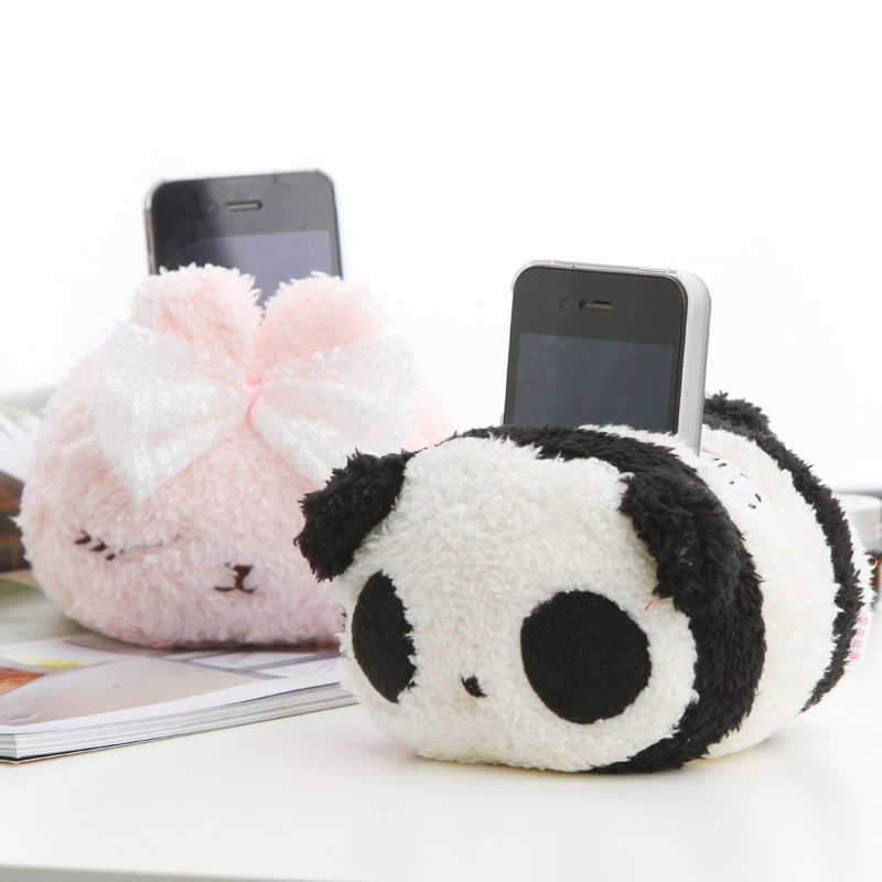 Home plush animal mobile phone holder display rack k0725 cell phone holder(China (Mainland))
