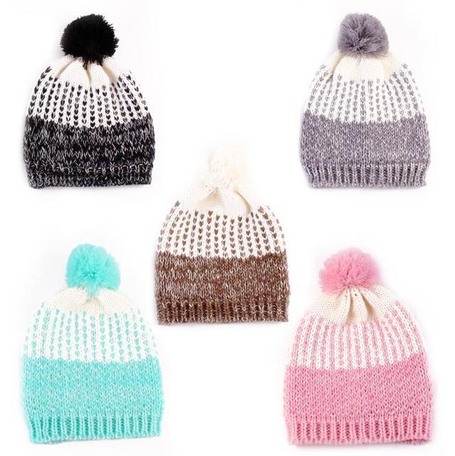 2016 новое прибытие качество детские шапки дети шапочка ребенок шляпа девушки шляпы зима осень хлопок вязаная шапка