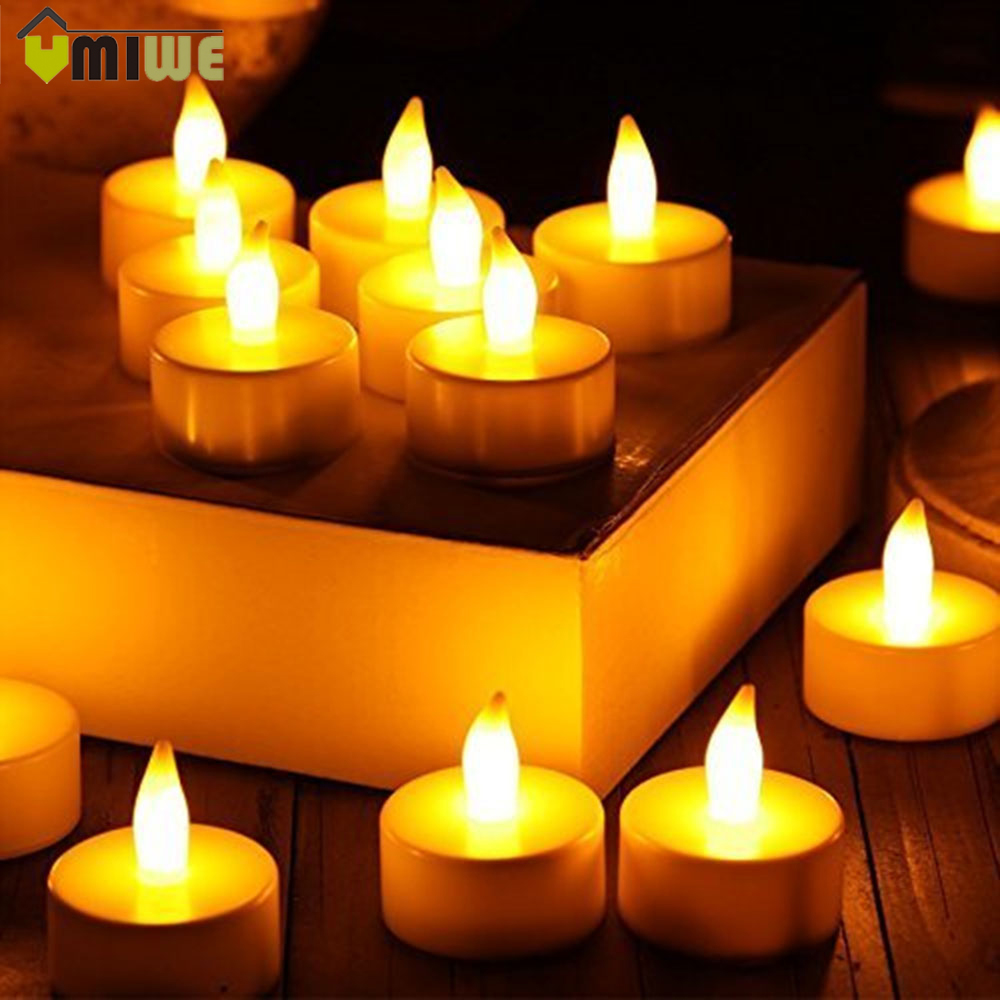 24pcs Yellow Flicker Wax Droped Cheap Candles Tear Drop Flameless LED Tea Candle Light Battery Operated Pillar Electronic Candle(China (Mainland))