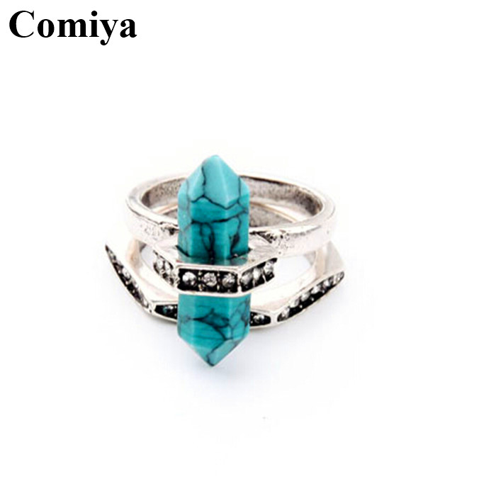 2016 anello bijouterie finger best friends championship exotic stones statement assessories charms brands blue rings jewelry(China (Mainland))