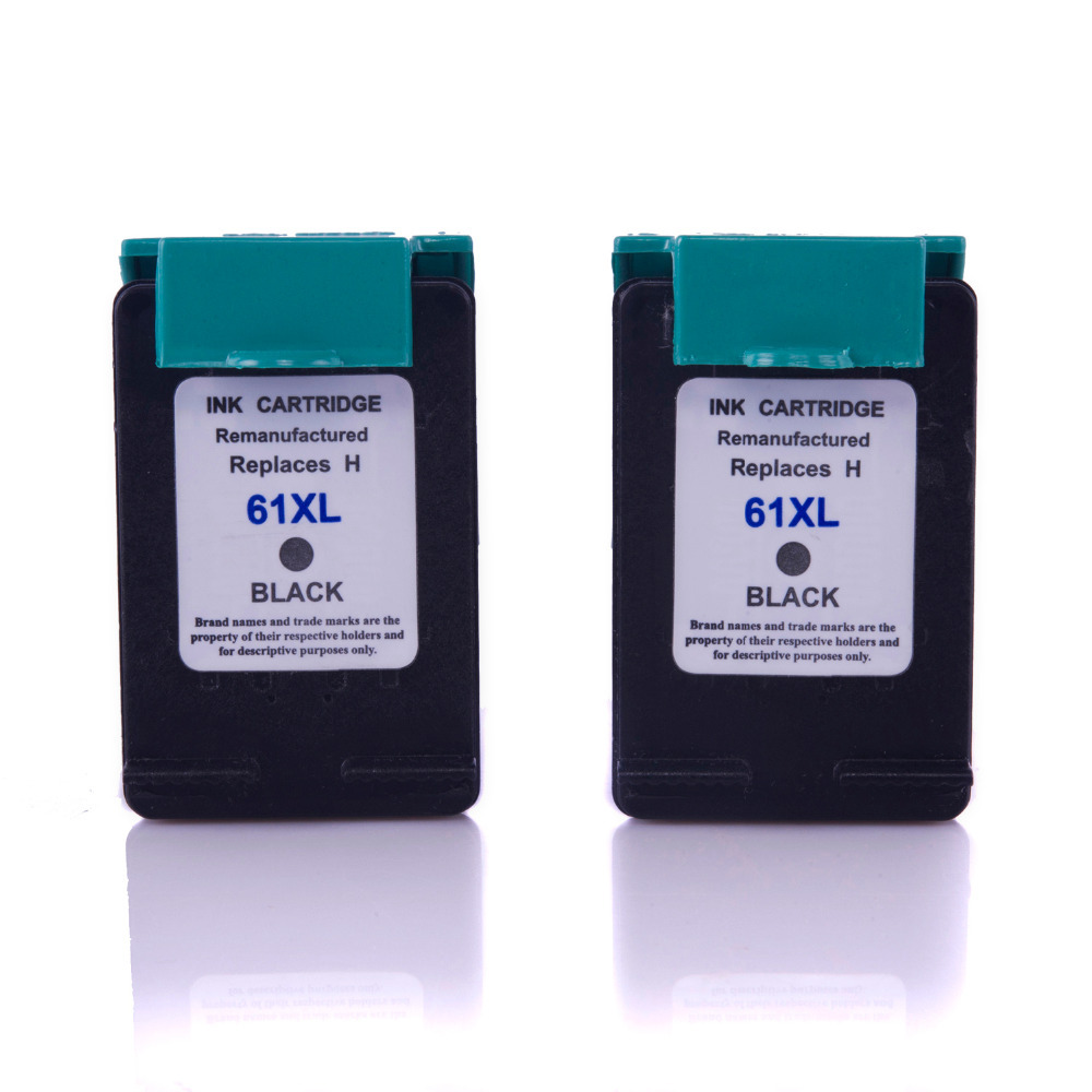 Speed hp 61xl remanufactured ink cartridge 2 black for Ink sale