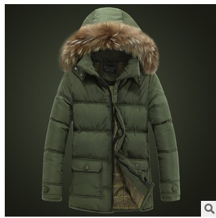 free shipping fashion collars in the men's long winter cotton-padded down hoodedt coat manufacturer wholesale and direct sales(China (Mainland))