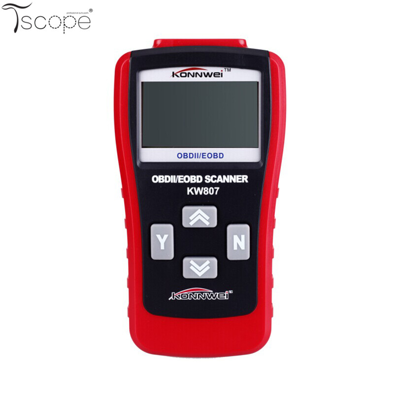 Same as GS500 Car Truck Diagnostic OBD2 II Scanner Tool KW807 EOBD CAN Auto Fault Scanner Code Reader with CD(China (Mainland))