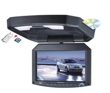 A 12.1inch Flip down TFT LCD Monitor Roof Mount DVD player