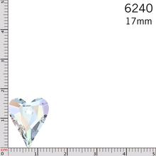 1 piece of crystal from SWAROVSKI 6240 Wild Heart pendant 17mm made in Austria for DIY jewelry(China (Mainland))