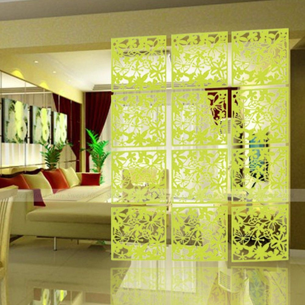 4pcs Butterfly Flower Bird Diy Hanging Screen Panel Room