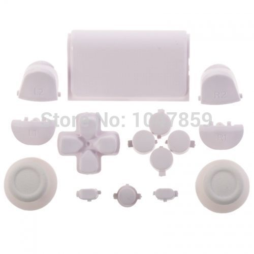 Custom for PS4 Playstaion Controller White Full Button Mod Kit for Sony Dualshock 4 Controllers<br><br>Aliexpress