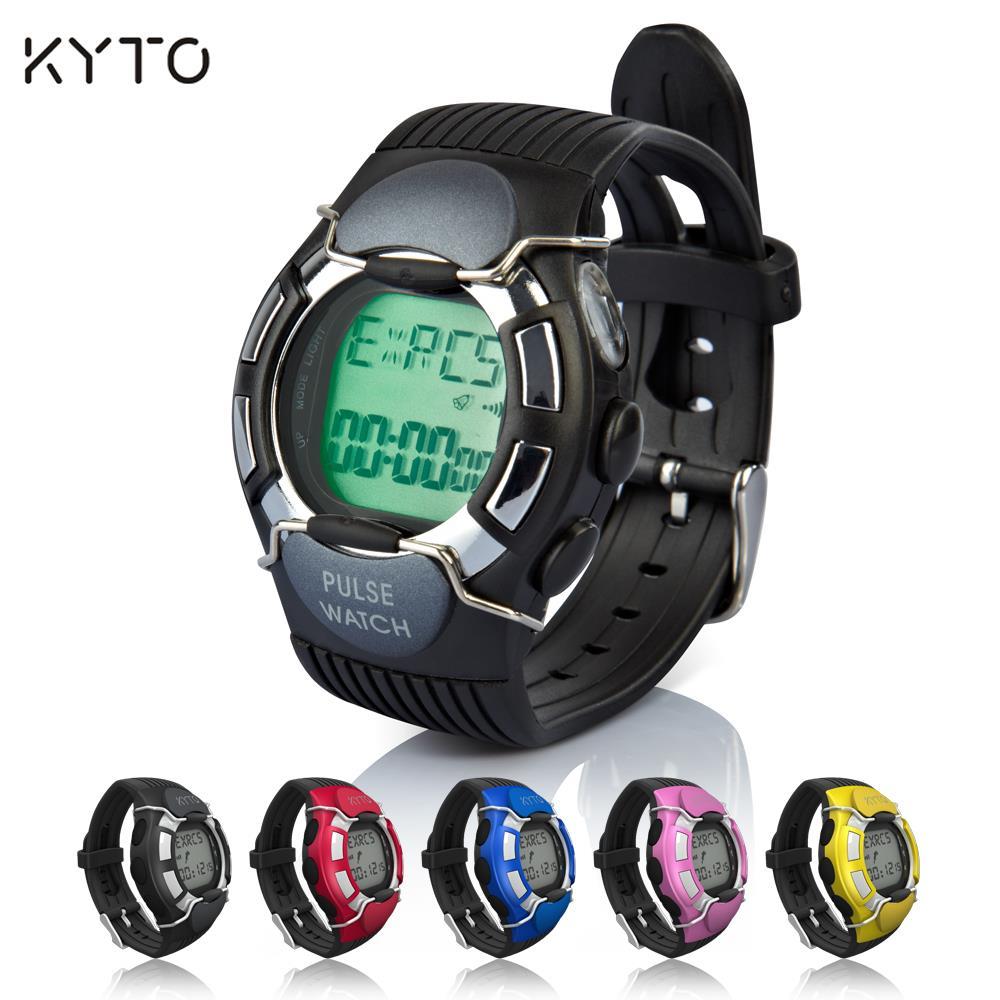 KYTO Smart Pulse Heart Rate Watch Counter Calories Monitor Sport Watch Men/Women Pedometer Wrist Watch Dual LCD Display Relogio<br><br>Aliexpress
