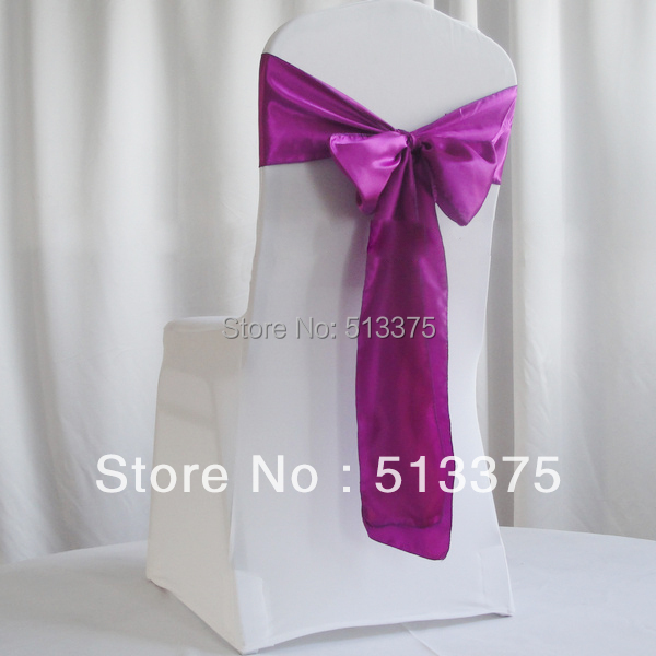 """Hot sale ! Free Shipping 100 pieces 7""""x108""""(18 x 275 cm ) Cream Satin Chair Sash Bow Wedding Party Banquet Decoration(China (Mainland))"""