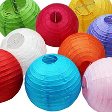 "6 "" (15cm) 10Pcs/lot Chinese paper lantern, round lamp, Wedding Decoration glim, festival birthday party decoration Lampion"